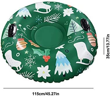 CHUWUJU Snow Tube - Super Big 45 Inch Inflatable Snow Sled for Kids and Adults - Heavy Duty Inflatable Snow Tube Made by Thickening Material of 0.6mm