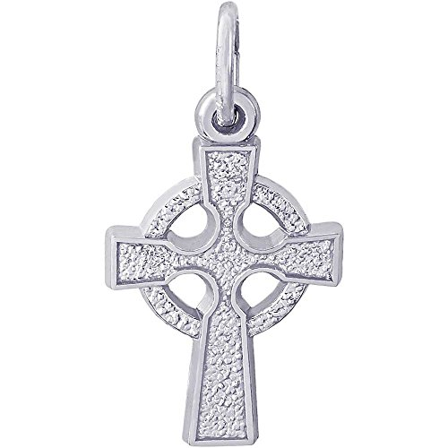 Rembrandt Charms Celtic Cross Charm, Sterling Silver