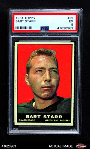 - 1961 Topps # 39 Bart Starr Green Bay Packers (Football Card) PSA 5 - EX Packers
