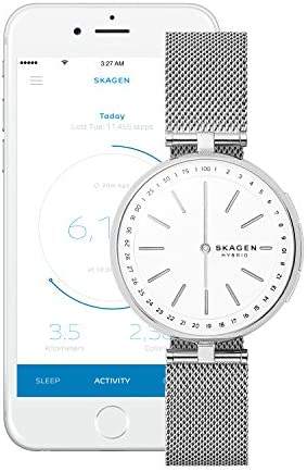 Skagen Connected Women's Signatur T-Bar Stainless Steel Mesh Hybrid Smartwatch, Color: Silver (Model: SKT1400) 6