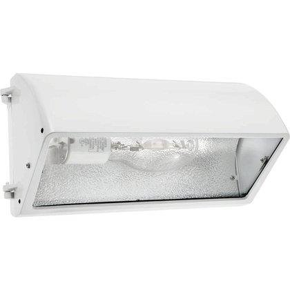 RAB Lighting WP3CH250PSQW WP3 Cutoff Metal Halide Wallpack, ED28 Type, Aluminum, 250W Power, 25000 Lumens, 277V, White -