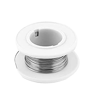 eDealMax Nicromio alambre 80 AWG 0.3mm 29Gauge 82.02ft Rollo 15.42Ohm / m calentador: Amazon.com: Industrial & Scientific