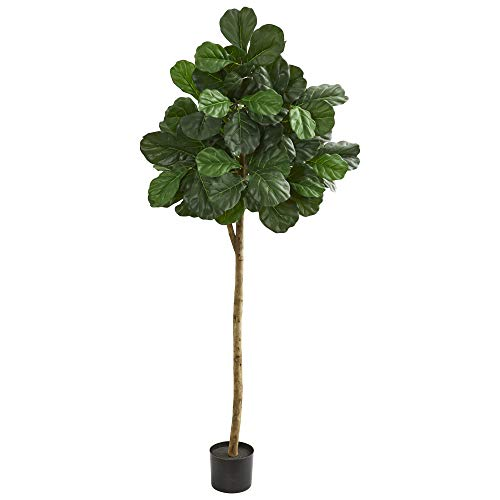 Nearly Natural 9109 6' Fiddle Leaf fig Artificial Silk Trees, - Silk Fig Trees