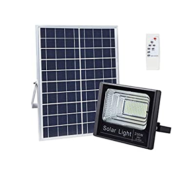 LW Solar Flood Light,400 LEDs 5000LM 200W IP67 Waterproof Outdoor Security Flood Light Fixture for Garden,Farm,Shed,Garage,Auto-on/Off Dusk to Dawn