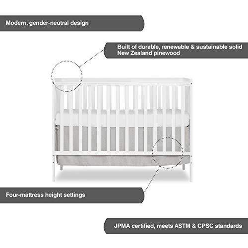 410p%2BnezGsL - Dream On Me, Synergy 5-in-1 Convertible Crib, White