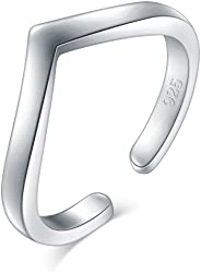 925 Sterling Silver Toe Ring, BoRuo Wave Hawaiian Adjustable Band Ring, Benefiting The American Red Cross