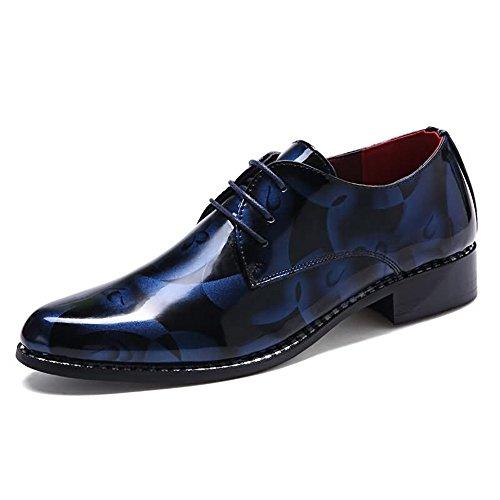 Xujw-shoes, 2018 Schuhe Herren, Herren Loafer Flache Ferse Camouflage Muster Casual Business Schuhe (Farbe : Rot, Größe : 40EU) Blue