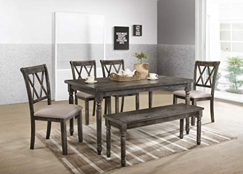Save 41% on a weathered gray bench