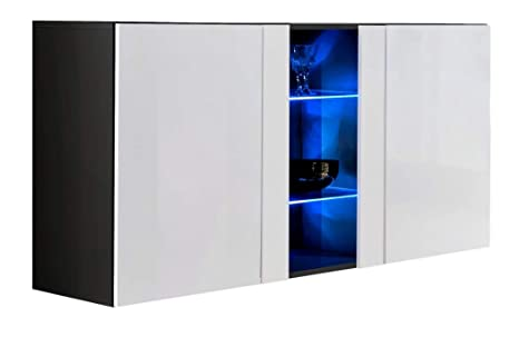 Credenza Moderna Profondità 40 : Credenza sospesa moderna design salve nero larghezza cm x