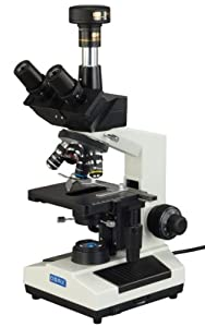 OMAX 40X-2000X Darkfield Trinocular Compound Biological LED Microscope with 5.0MP USB Camera from OMAX