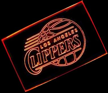 NBA Los Angeles Clippers Team Logo with (16 kinds of Colors flashing mode+remote control) Neon Light Sign by scopewise co