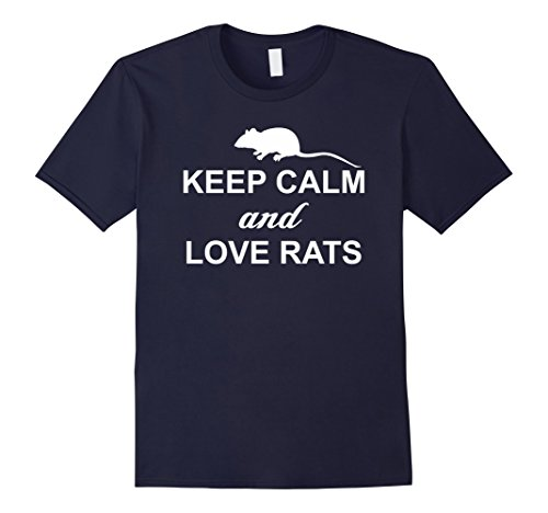 Men's Keep Calm And Love Rats - Funny Rat Lover Shirt 2XL Navy