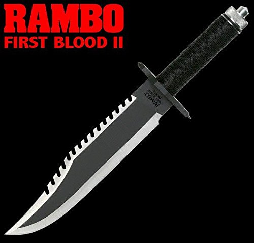 Officially Licensed RAMBO II MC-RB2 Officially Licensed First Blood Part II Survival Knife 15.38-Inch Overall