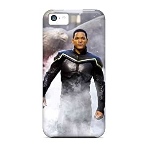 Ucr40277GyzF Cases Covers Skin For Iphone 5c (will_smith_actor_man_hancock_movies_beach__reflections_1080p)