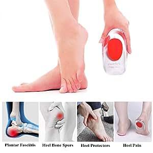 Supcare Almohadilla Media de Gel de Silicona para Talón Plantillas Insertadas Calzado Mujer Distribuir Presión 3-5.5: Amazon.es: Salud y cuidado personal