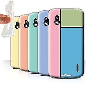 STUFF4 Gel TPU Phone Case / Cover for LG Nexus 4/E960 / Pack 14pcs / Pastel Tiles Collection