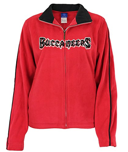 NFL Reebok Womens Tampa Bay Buccaneers Full Zip Womens Fleece, Red