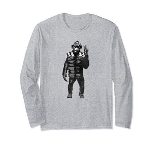 War for the Planet of the Apes Bad Ape Longsleeve T Shirt (Cast War Of The Planet Of The Apes)