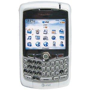 (Blackberry Rubber Skin Case for Blackberry 8300 Curve Series - White)