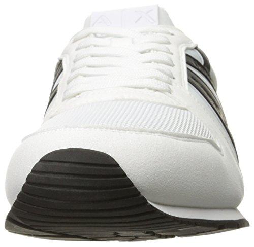 A|X Armani Exchange Mens Retro Running Sneaker Fashion Sneaker Optical White 0eDOBjZ