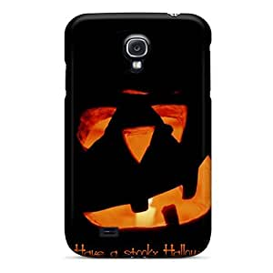 Special NikRun Skin Case Cover For Galaxy S4, Popular Alone Pumpkin Phone Case