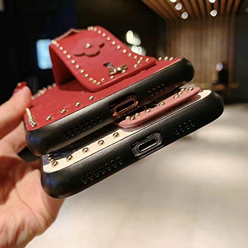 New Women Men Phone Case Fashion New Rivet Fashion Phone case Cover for iPhone 7plus 8plus 6Splus 6 7 8 X XS max Xr 6.5 inch 6.1 Wrist Strap case,Orange,for iPhone Xr orange iphone xr case 6