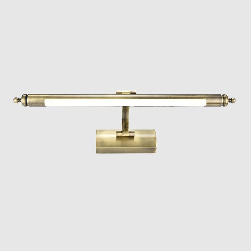 Ali Spiegel-vordere Lichter Badezimmer-helle einfache Spiegel-Kabinett-Lampe führte wasserdichte Anti-fog Europäische Art Verfassungs-Lampen (Größe   64cm-11w)