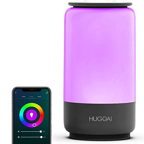 Smart-Table-Lamp-HugoAi-Dimmable-Bedside-Lamps-for-Bedrooms-Works-with-Alexa-and-Google-Home-LED-Nightstand-Lamp-with-Shades-of-White-Lights-and-Vibrant-Colors-No-Hub-Required-Grey