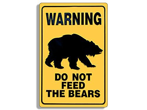 GHaynes Distributing Warning Sign Shaped Do Not Feed The Bears Vintage Sticker Decal (hike rv parks) 3 x 4 inch