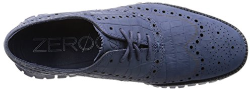 Cole Haan Heren Zerogrand Wing Ox Leather Oxford Washed Indigo Croc