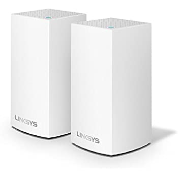 Linksys Velop Whole Home WiFi Intelligent Mesh System, 2-Pack/2-4 bedrooms/medium multi-story & patio, Easy Setup, Maximize WiFi Range & Speed for all your ...