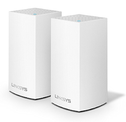 Linksys Velop Home Mesh WiFi System - WiFi Router/WiFi Extender for Whole-Home Mesh Network (2-pack, White) from Linksys