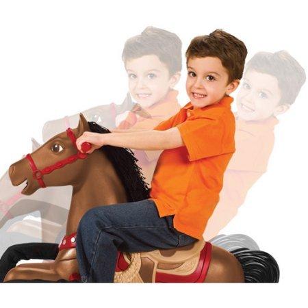 Radio Flyer Duke Interactive Riding Horse, Red, 36 x 41 x 21''
