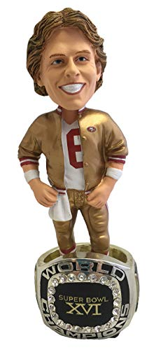 Joe Montana (San Francisco 49ers) Super Bowl XVI Championship Ring Base NFL Bobblehead Exclusive #/750