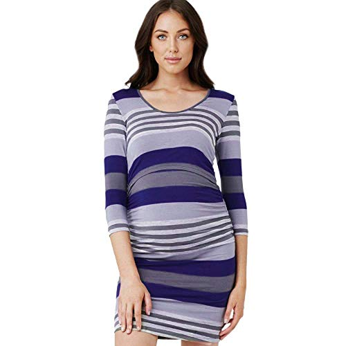 SMALLE ◕‿◕ Clearance,Women Mom Pregnant Nursing Baby Maternity Striped Long Sleeve Dress Clothes