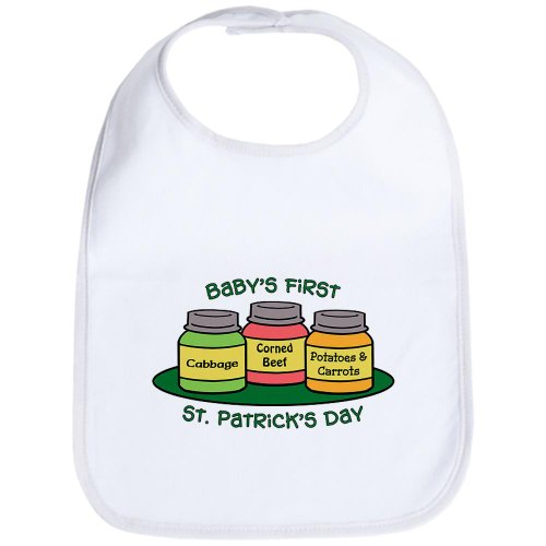 CafePress - First St. Patrick's Day - Cute Cloth Baby Bib, Toddler ()