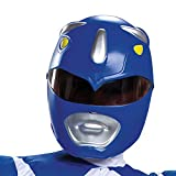 Blue Power Ranger Costume, Kids Size Beast Morphers Muscle Padded Character Jumpsuit and Mask, Classic Child Size Medium