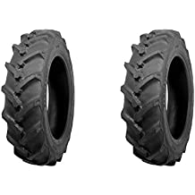 (TWO) ATF 6-14 Traction R-1 Lug Tractor Tires & Tubes 6 Ply Rated Compact 4wd Farm Tractors