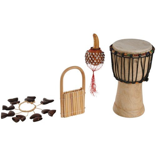 African Rhythm Band Set Of 4 Hand-Crafted Instruments