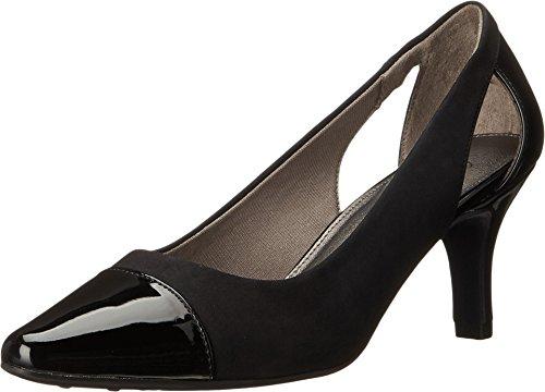 Women's Lifestride, Kimmy Mid Heel dressy Pumps BLACK MIX 8 W