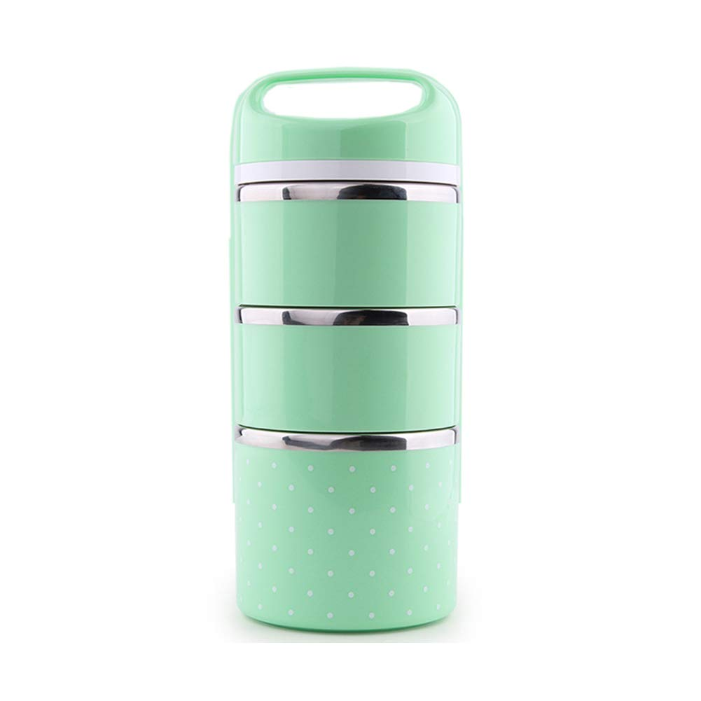 Bento Lunch Box Containers - Mr.Dakai Portable Insulated Leakproof Stainless Steel Insulated Lunch Box for Adults and KidsFood Container Food Box Lunchbox (2, Green)