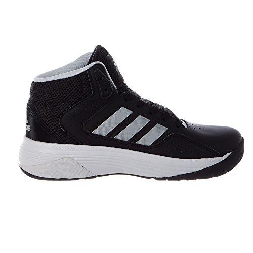 adidas NEO Cloudfoam Ilation Mid K Kids Casual Footwear (Little Kid/Big Kid),Black/Metallic Silver/White,1 M US Little Kid