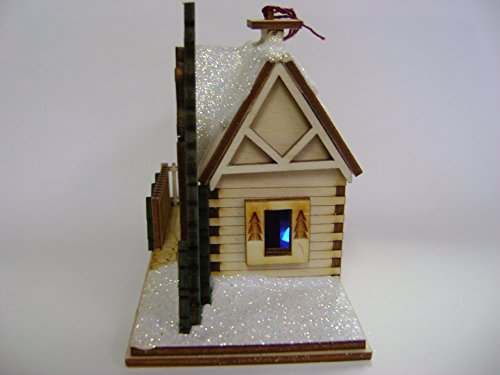 Ginger Cottages - Santa's Ski Lodge GC126, Miniature Collectable building for Christmas and holiday displays. Wood table top display or ornament. Hand crafted in the Richmond Virginia, USA area. by Ginger Cottages (Image #3)