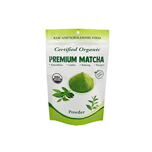 1 Lb Sweet - Chérie Sweet Heart Matcha Green Tea Powder - USDA Organic - Smoothies, Lattes, Baking, Recipes - Antioxidants, Energy, 1 lb (1)