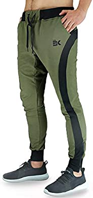 BROKIG Mens Casual Tapered Jogger Breathable Pants