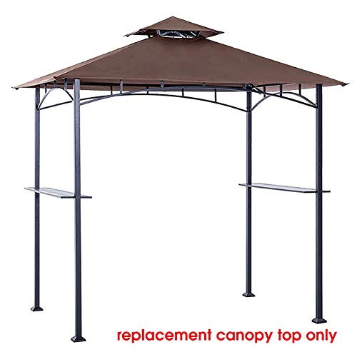(Eurmax Grill Shelter Replacement Canopy Roof ONLY FIT for Gazebo Model L-GZ238PST-11(Brown))