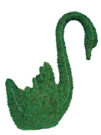 Swan Topiary (Swan 11 inches high x 12 inches long x 5 inches wide w/ Moss Topiary Frame , Handmade Animal Decoration)