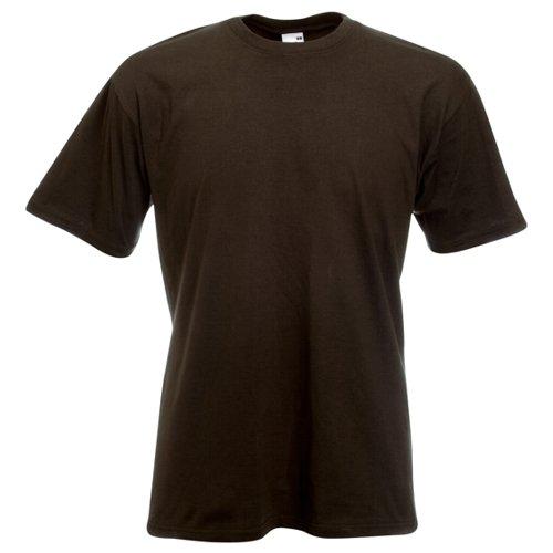 Fruit of the Loom Super Premium T-Shirt–Schokolade klein