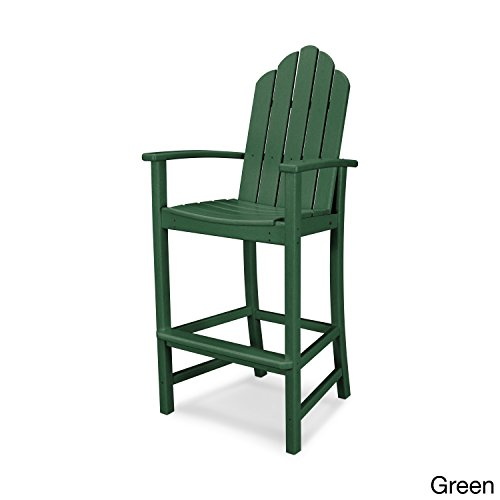 POLYWOOD Kahala Outdoor Adirondack Bar Chair Green