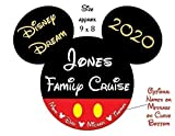 HANDMADE PERSONALIZED Large Classic Red Shorts Mouse Head Family Magnet | Disney Inspired Cruise Door Decoration